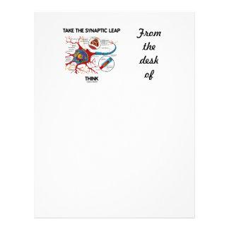 Tome el salto sináptico piensan (la sinapsis de la plantillas de membrete