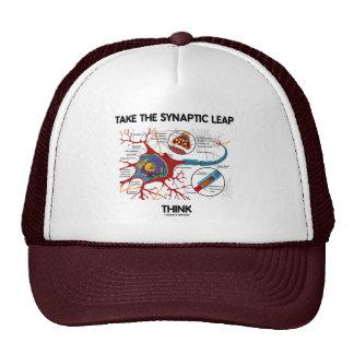 Tome el salto sináptico piensan (neurona/la sinaps gorros bordados