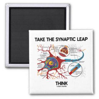 Tome el salto sináptico piensan (neurona/la sinaps imán cuadrado