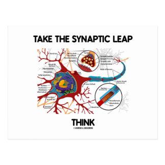 Tome el salto sináptico piensan (neurona/la postal