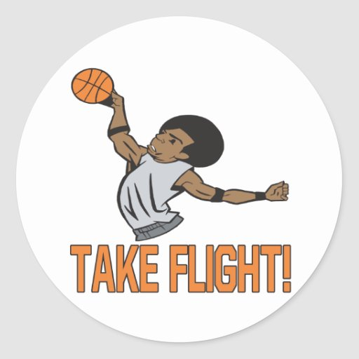 Tome el vuelo etiquetas redondas