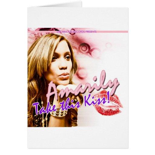 Tome este beso tarjeta de felicitación