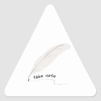 Tome la nota pegatina triangular