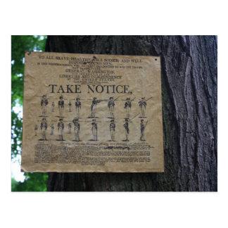 Tome la postal del aviso
