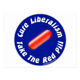 Tome la postal roja de la píldora