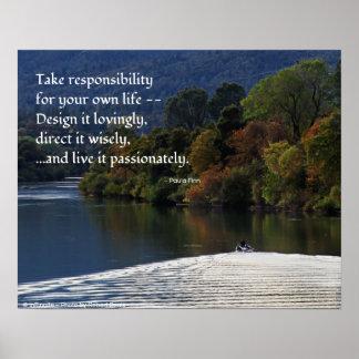 Tome la responsabilidad de su propia vida… póster