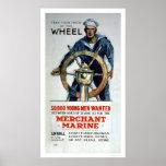 Tome la rueda - marina mercante (US02058) Posters