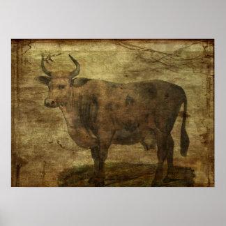 Tome la vaca por los cuernos póster