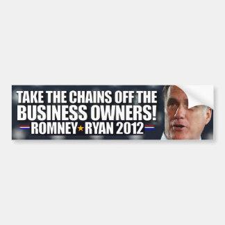 Tome las cadenas de propietarios de negocio pegatina para auto