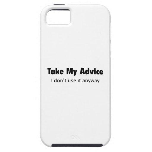 Tome mi consejo. No lo utilizo de todos modos iPhone 5 Coberturas