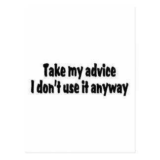 Tome mi consejo que no lo utilizo de todos modos postal