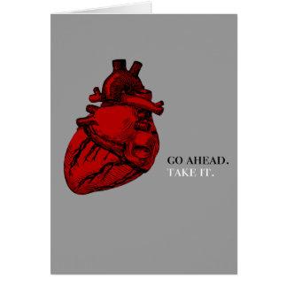 Tome mi tarjeta del corazón