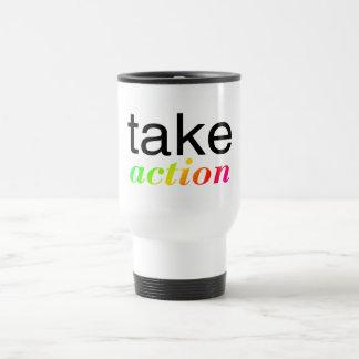 Tome multi de la acción coloreada taza térmica