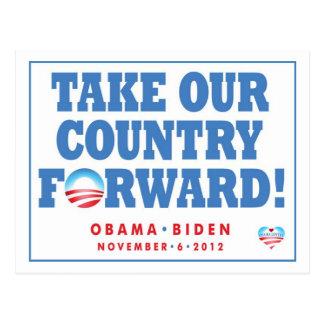 Tome nuestra postal del voto del país adelante -