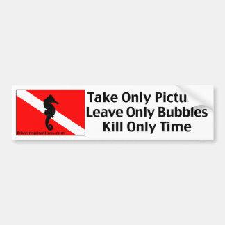 Tome solamente a la pegatina para el parachoques d etiqueta de parachoque