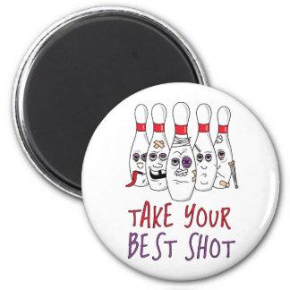 Tome su mejor tiro imán redondo 5 cm