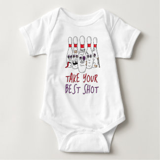 Tome su mejor tiro mameluco de bebé