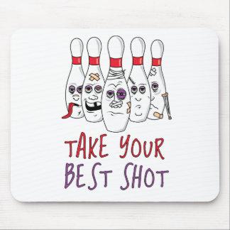 Tome su mejor tiro tapetes de ratón
