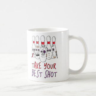 Tome su mejor tiro taza clásica