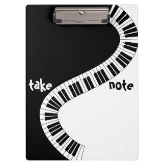 """Tome tablero musical de la nota"""
