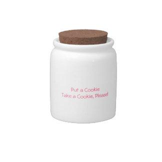 """"""". Tome tarro de galletas de una galleta"""" Jarra Para Caramelo"""