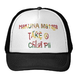 Tome un gorra del camionero de los regalos de Haku
