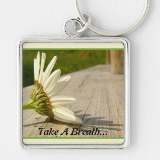 Tome un llavero de la respiración…