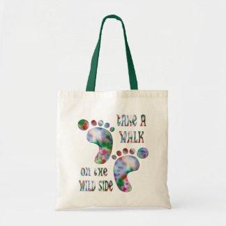 Tome un paseo en el lado salvaje bolsa tela barata