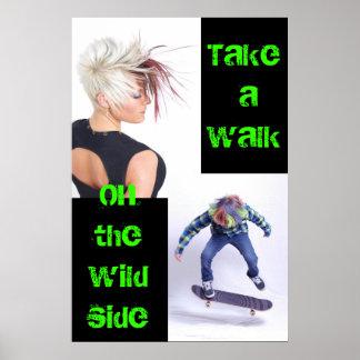 Tome un paseo en el poster lateral salvaje