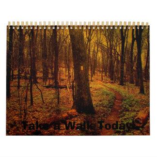 ¡Tome un paseo hoy! Calendario