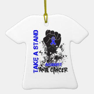 Tome un soporte contra cáncer anal adornos de navidad