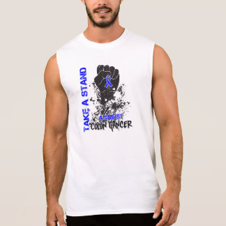 Tome un soporte contra cáncer de colon camisetas sin mangas