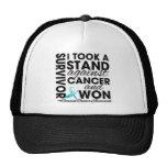 Tomé un soporte contra cáncer de cuello del útero  gorra