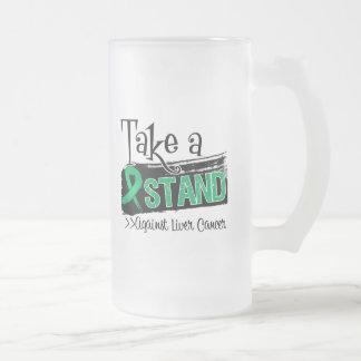 Tome un soporte contra cáncer de hígado tazas de café