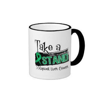 Tome un soporte contra cáncer de hígado taza de café