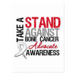 Tome un soporte contra cáncer de hueso postal