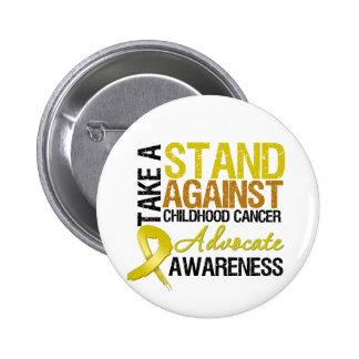 Tome un soporte contra cáncer de la niñez pin redondo de 2 pulgadas