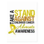 Tome un soporte contra cáncer de la niñez postal