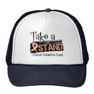 Tome un soporte contra cáncer endometrial gorras de camionero