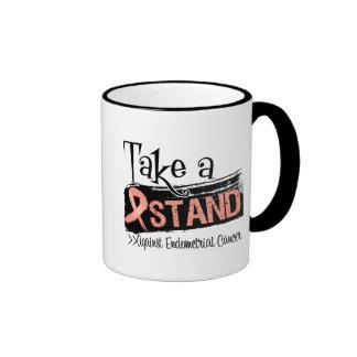 Tome un soporte contra cáncer endometrial tazas de café