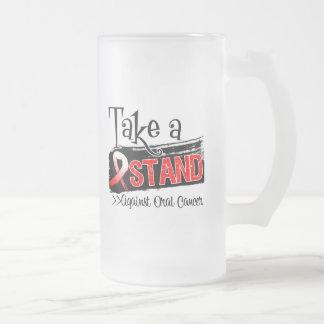 Tome un soporte contra cáncer oral taza de café