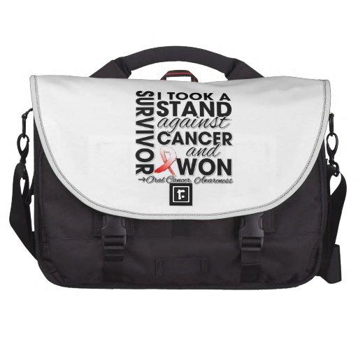 Tomé un soporte contra cáncer oral y gané bolsa para ordenador