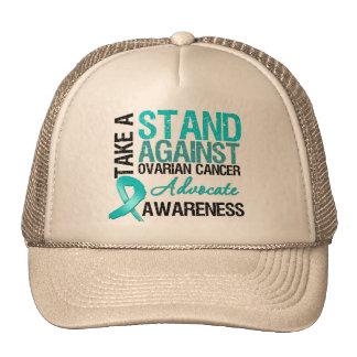 Tome un soporte contra cáncer ovárico gorro de camionero