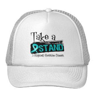 Tome un soporte contra cáncer ovárico gorros bordados
