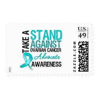 Tome un soporte contra cáncer ovárico sellos
