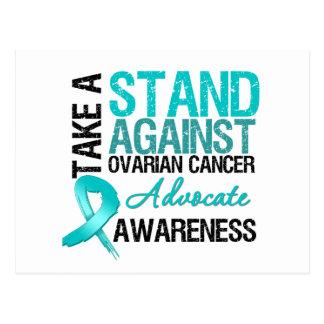 Tome un soporte contra cáncer ovárico tarjetas postales