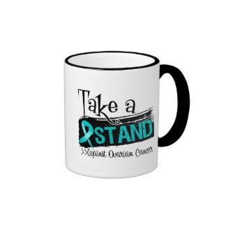 Tome un soporte contra cáncer ovárico tazas de café