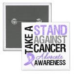Tome un soporte contra cáncer pin