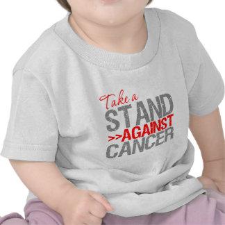 Tome un soporte contra el cáncer - cáncer de camisetas