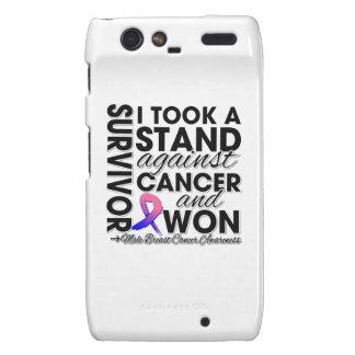 Tomé un soporte contra el cáncer de pecho masculin motorola droid RAZR carcasas
